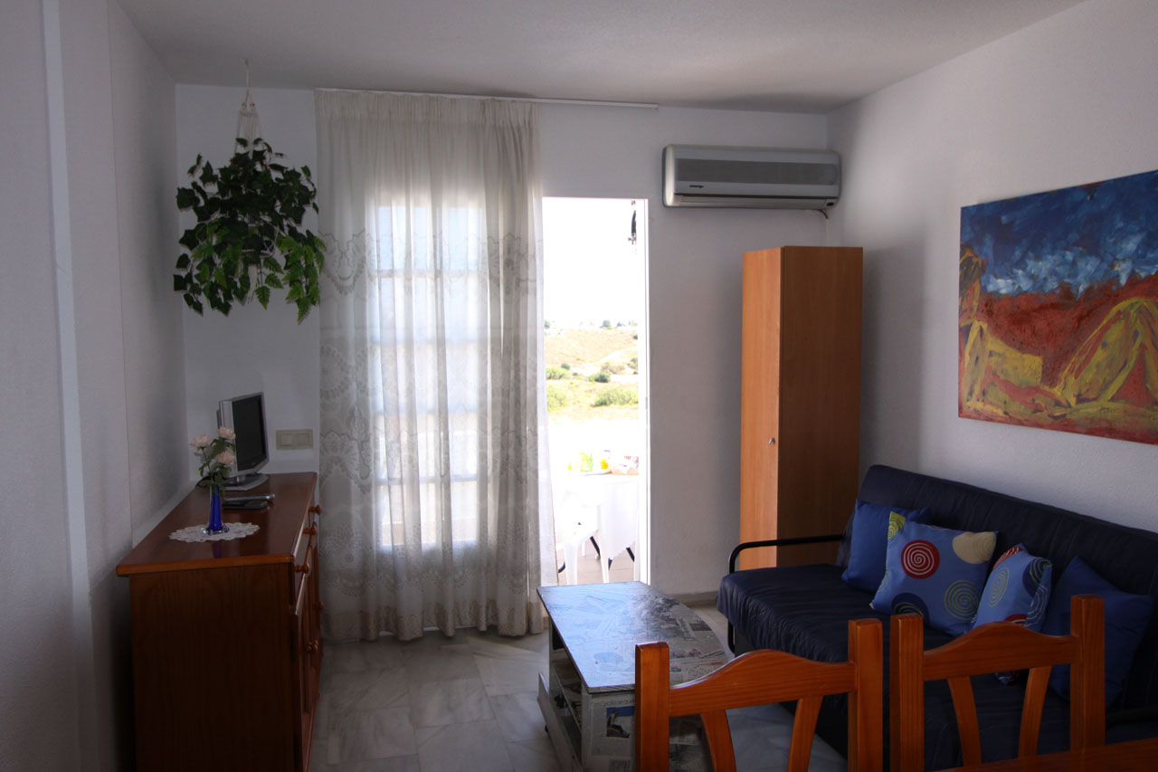 self catering apartment Mojacar view to living room